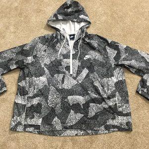 Nike windbreaker pull over jacket